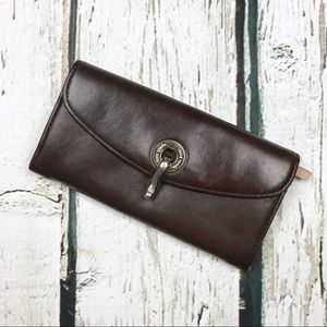 Kate Spade Brown Leather Clip Clasp Wallet
